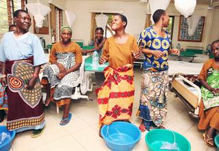 Fistula patients celebrating the healing