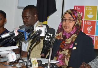 Dr.Hashina Begum, UNFPA Tanzania, Acting Country Representative on Media Press briefing on commemoration of World Population Day. Photo: Warren Bright: UNFPA Tanzania